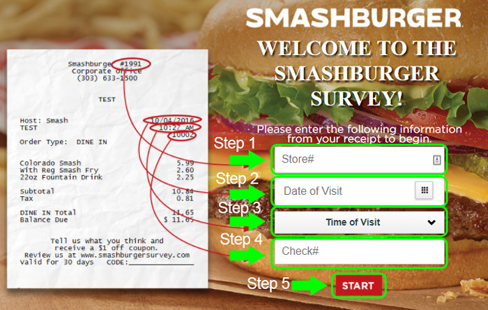 smashburger survey code validaton