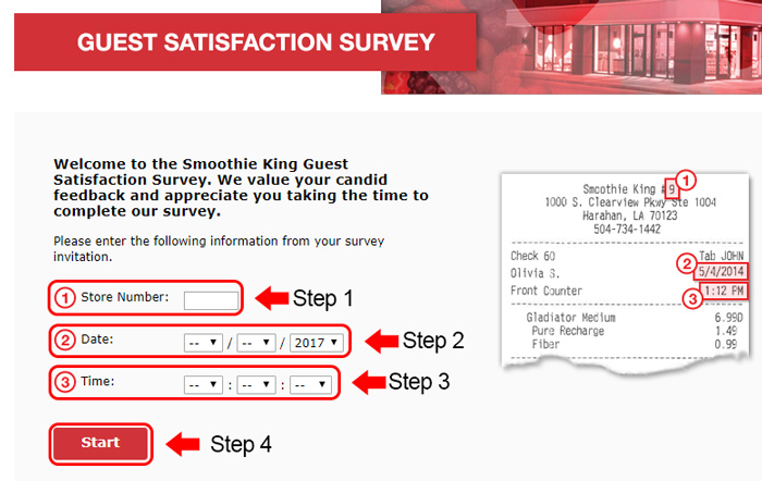 smoothie king survey code