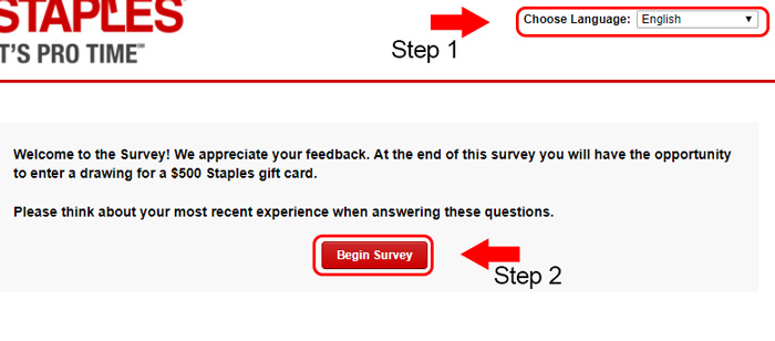staples survey language